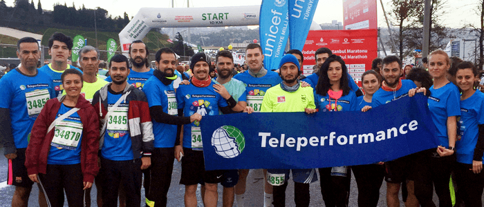 Teleperformance in Turkey's Running Team Makes the World a Better Place